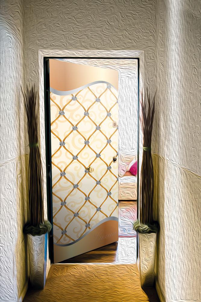 Виниловая наклейка на дверь -  Роскошь 2