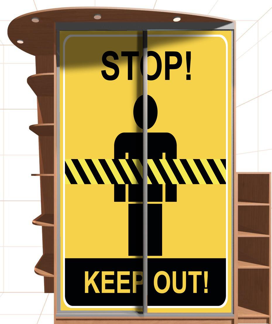 Наклейка на шкаф - Stop