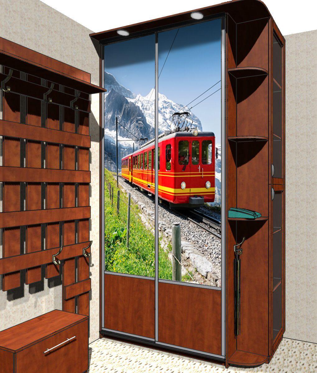 Наклейка на шкаф - Путешествие в горы