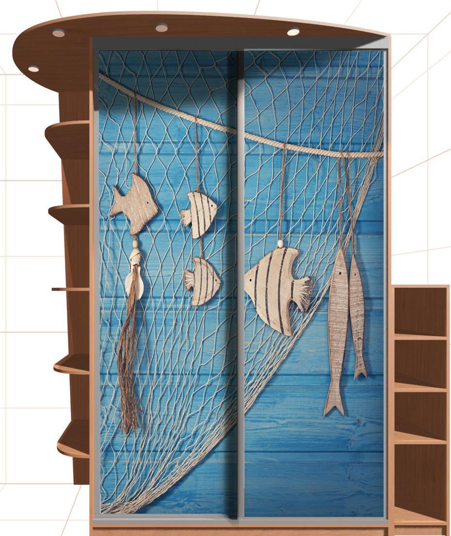 Наклейка на шкаф - улов рыбака