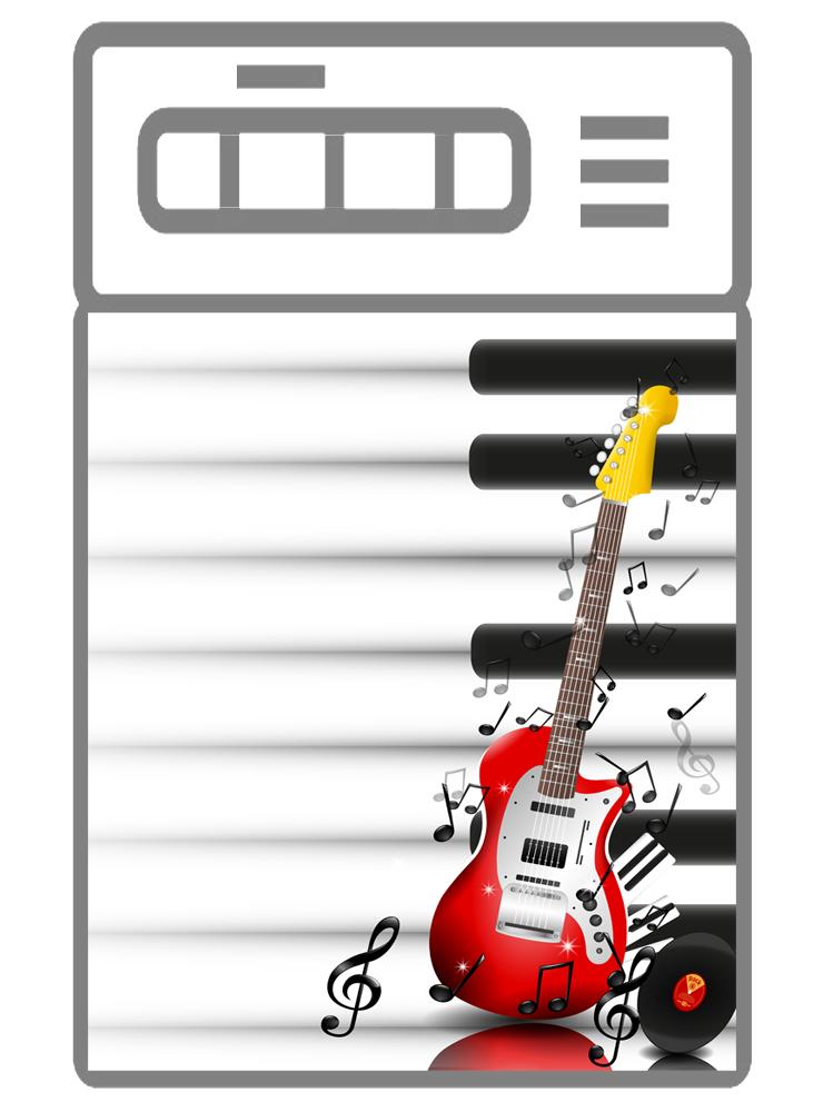 Наклейка на посудомоечную машину  - Музыкальные инструменты