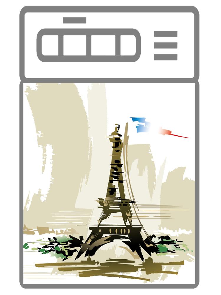 Наклейка на посудомоечную машину  - Париж 3