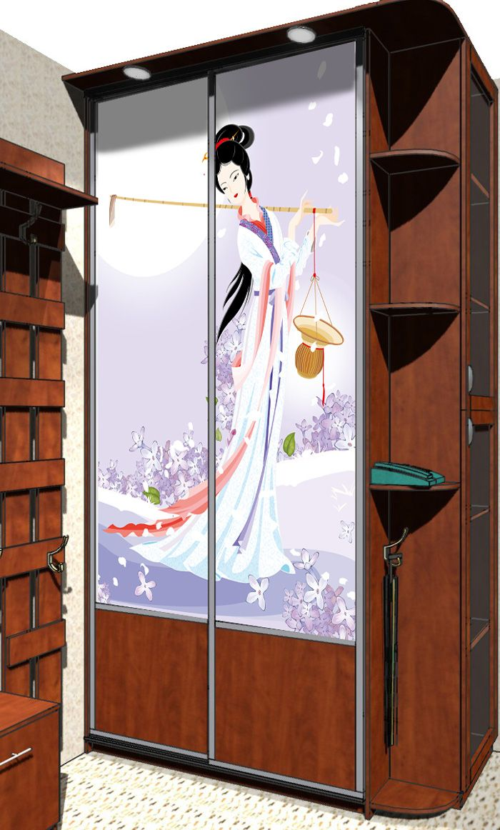 Наклейка на шкаф - Муза сельхозугодий