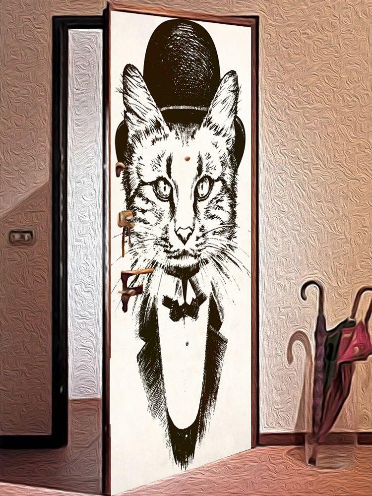 Наклейка на дверь - На службе Ее Величества