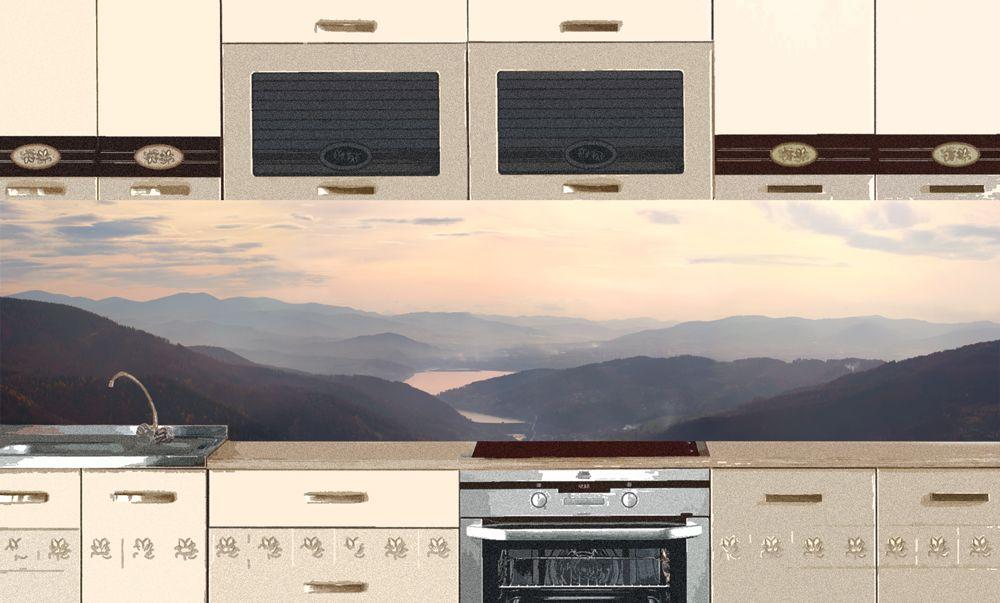 Виниловая наклейка для фартука на кухню -Вдоль гор