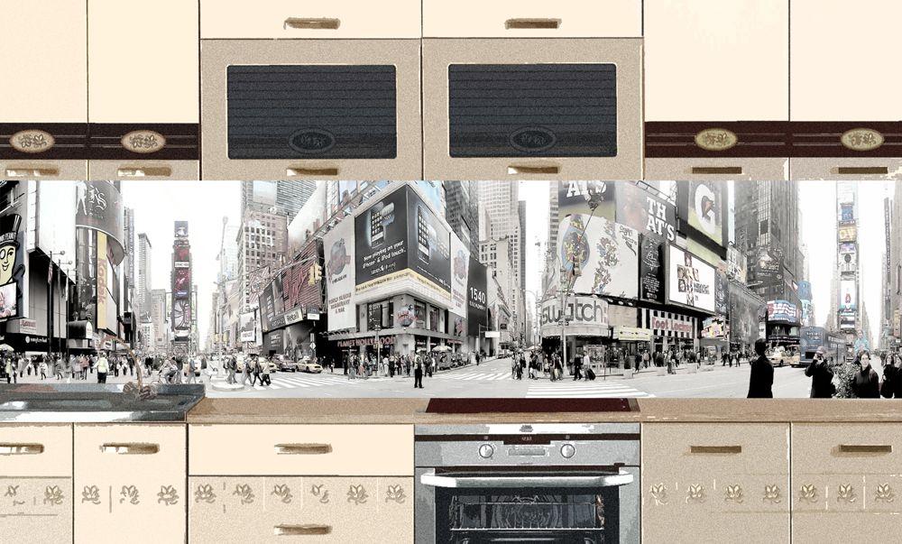 Виниловая наклейка для фартука на кухню - NYC