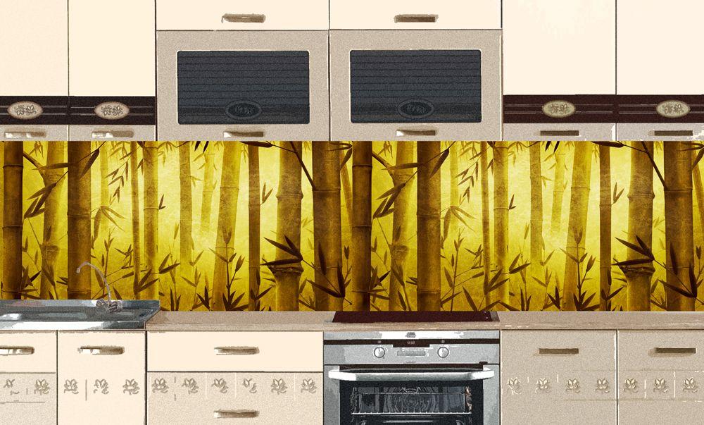 наклейка на фартук кухни - Бамбук