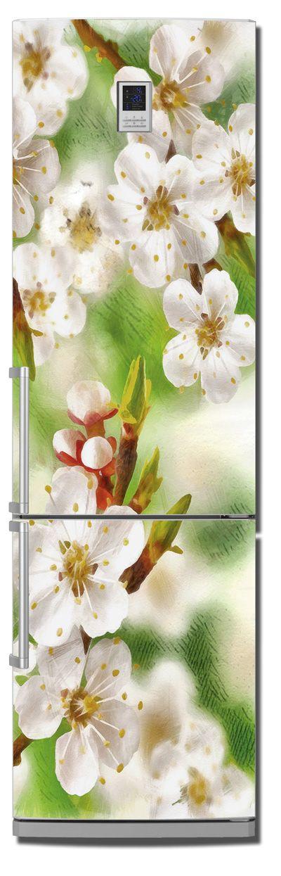 Наклейка на холодильник - Весенние зарисовки
