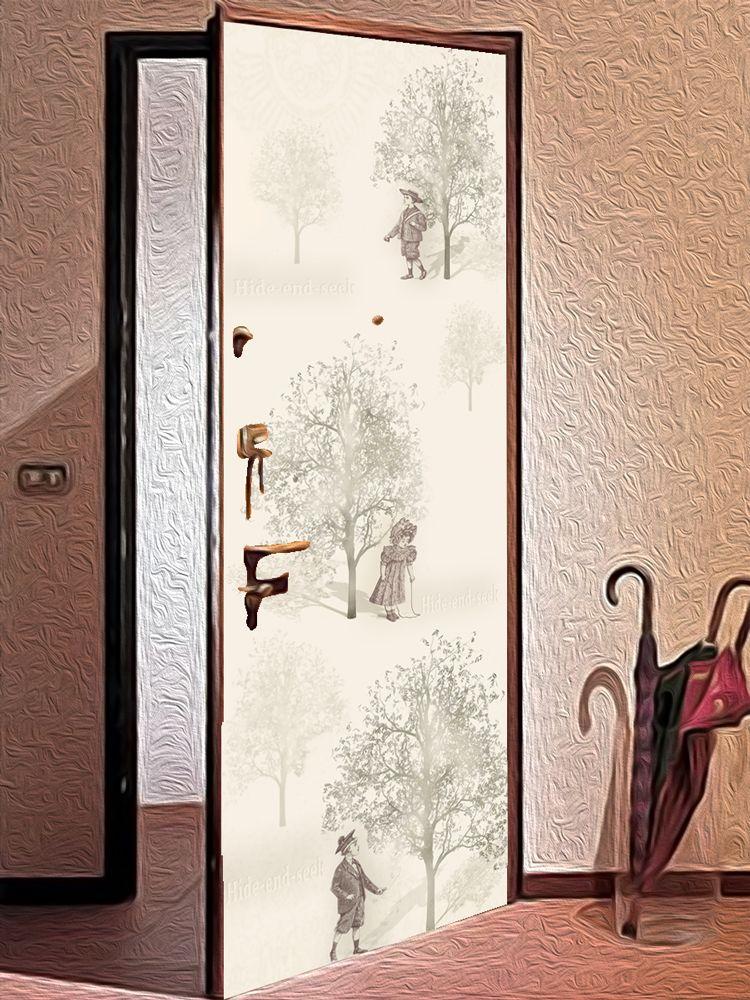наклейка на дверь - Прятки