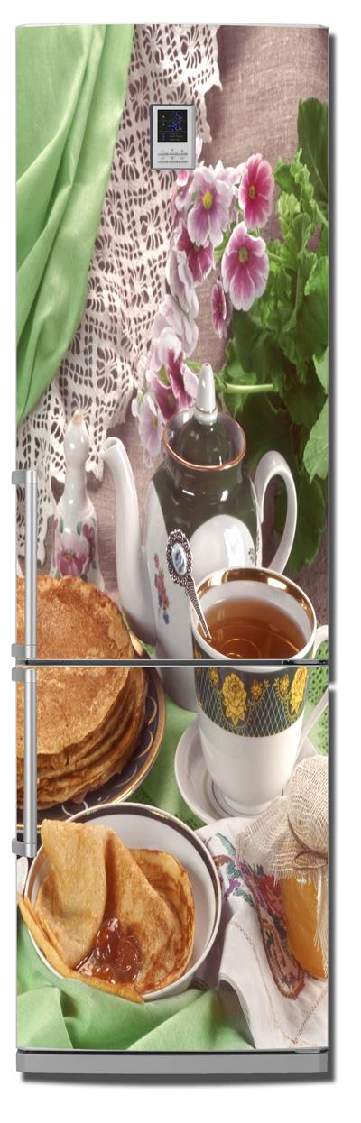 Виниловая наклейка на холодильник -  Блины