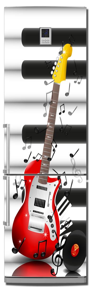 ниловая наклейка на холодильник -  Музыкальные инструменты
