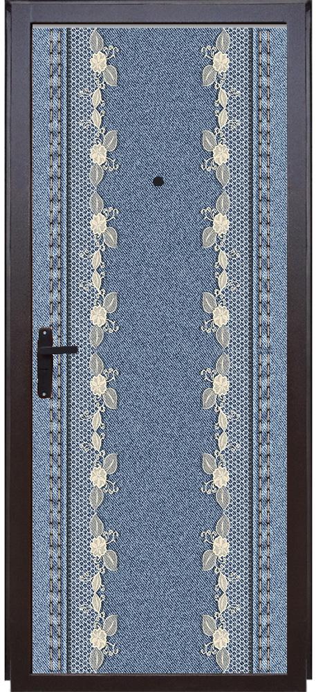 Виниловая наклейка на дверь - Jeans