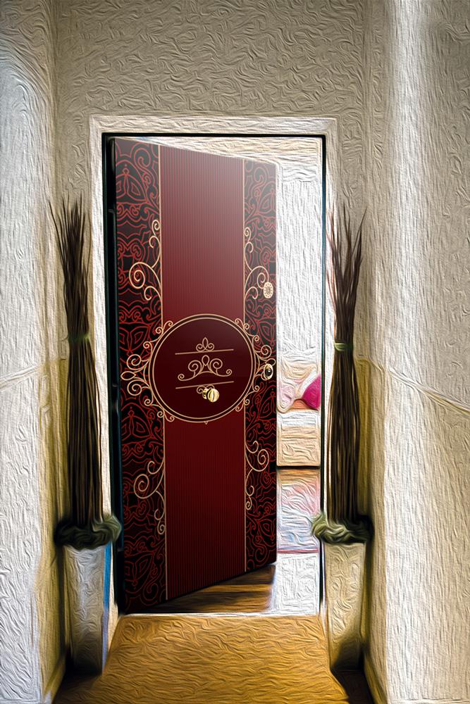 Виниловая наклейка на дверь -  Роскошь 1
