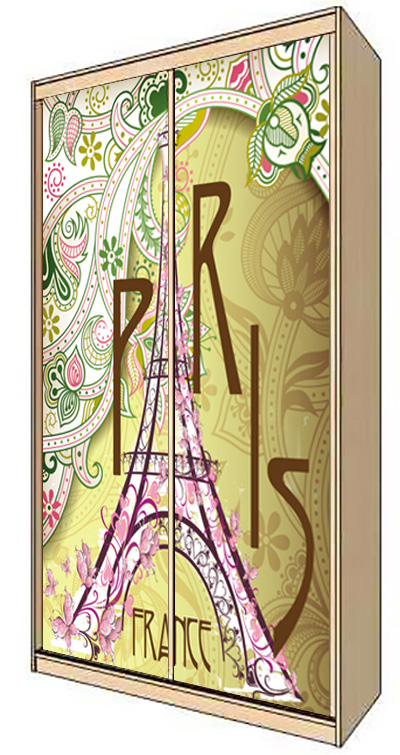 Wardrobe Stickers - Vintage Paris by X-Decor
