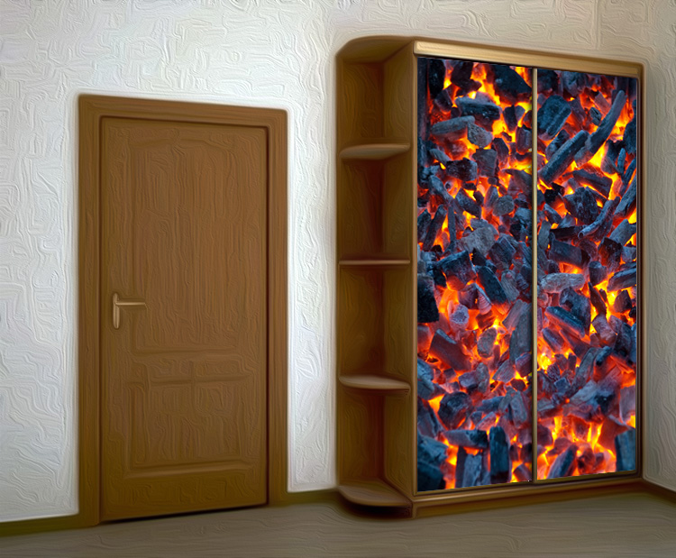 Wardrobe Stickers - Coals by X-Decor