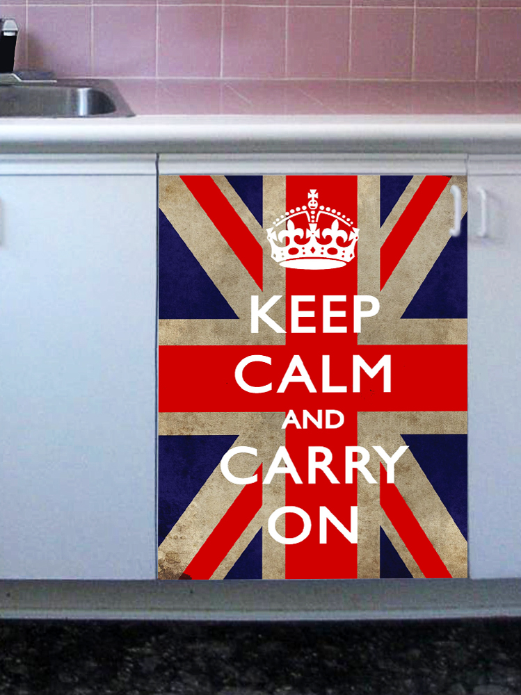 наклейка на посудомоечную машину - Keep calm 2