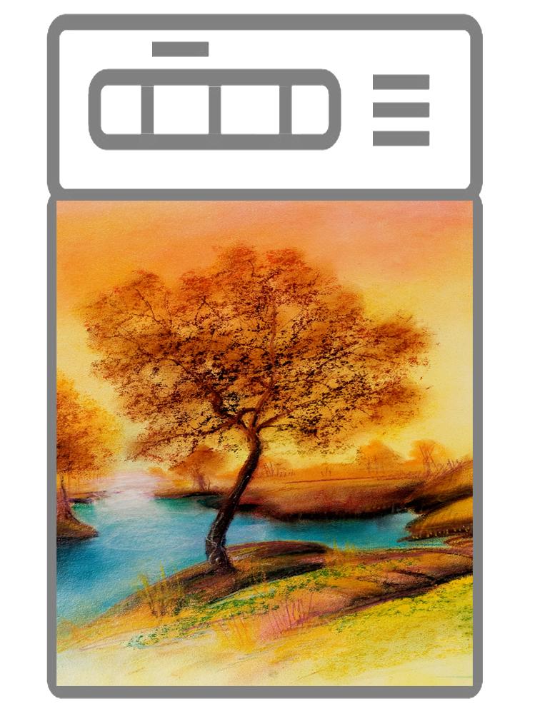 Наклейка на посудомоечную машину  - Пейзаж 2