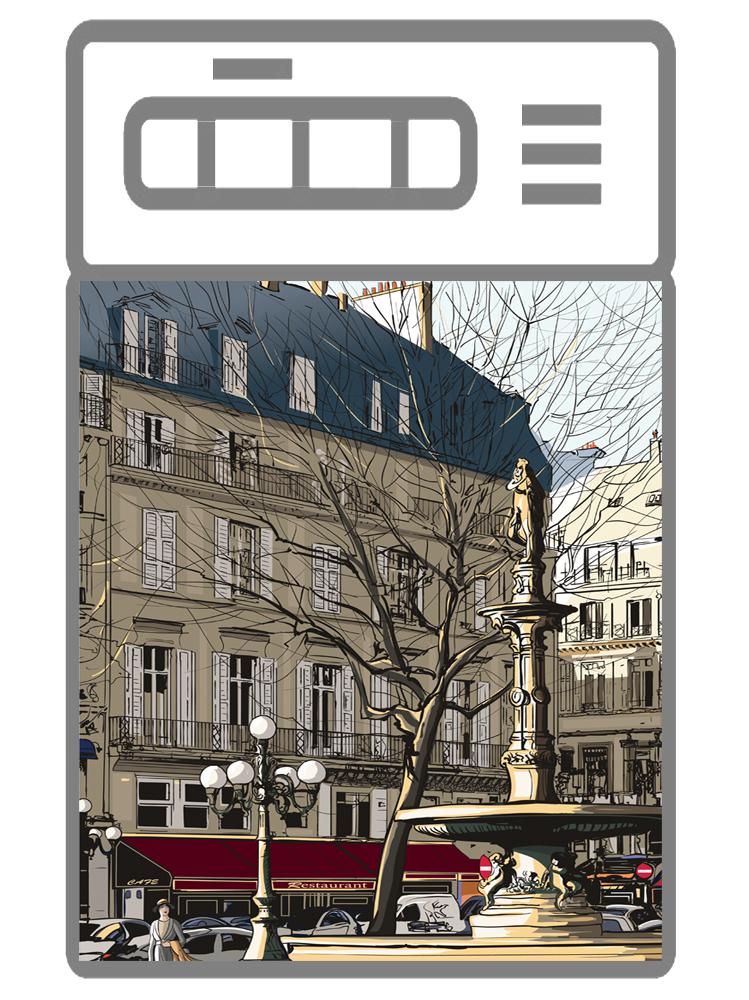 Наклейка на посудомоечную машину - Улицы города 1