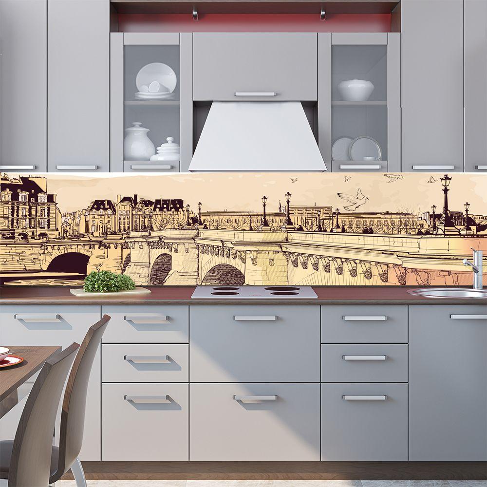 наклейка на фартук - Панорама, город.