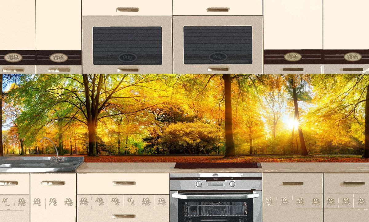 Kitchen Backsplash - Autumn Park