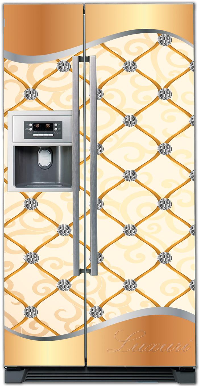 Виниловая наклейка на холодильник - Роскошь 2