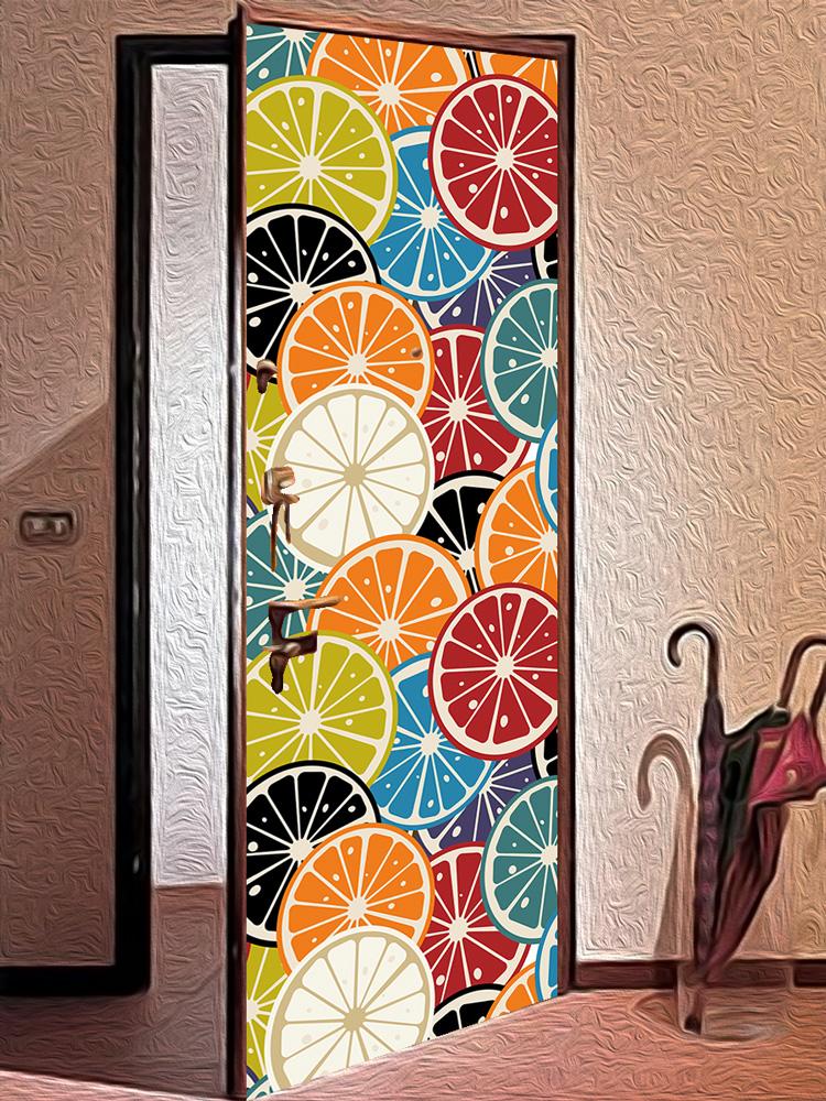 Виниловая наклейка на дверь -  Мармелад