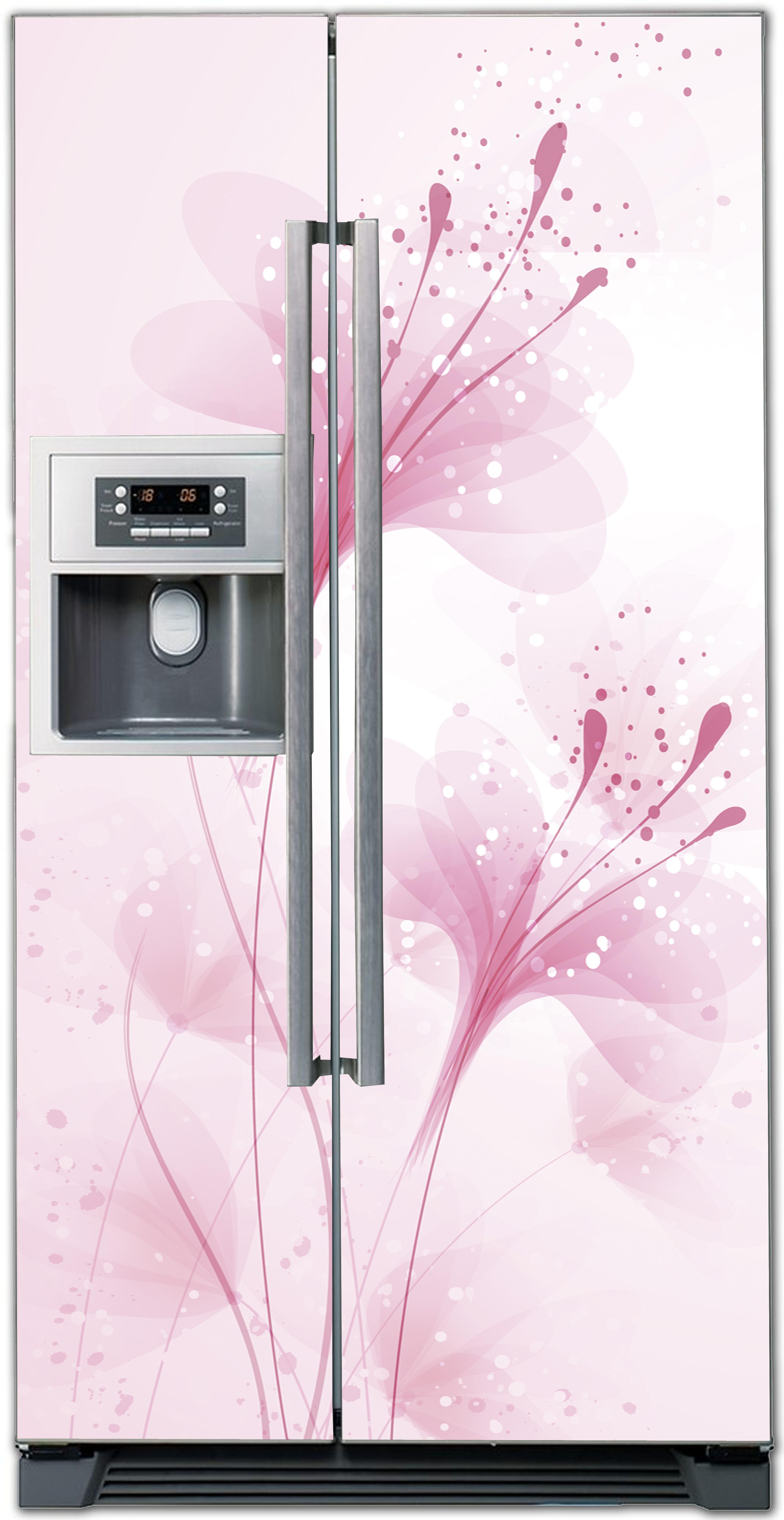 Виниловая наклейка на холодильник - Нежные цветы