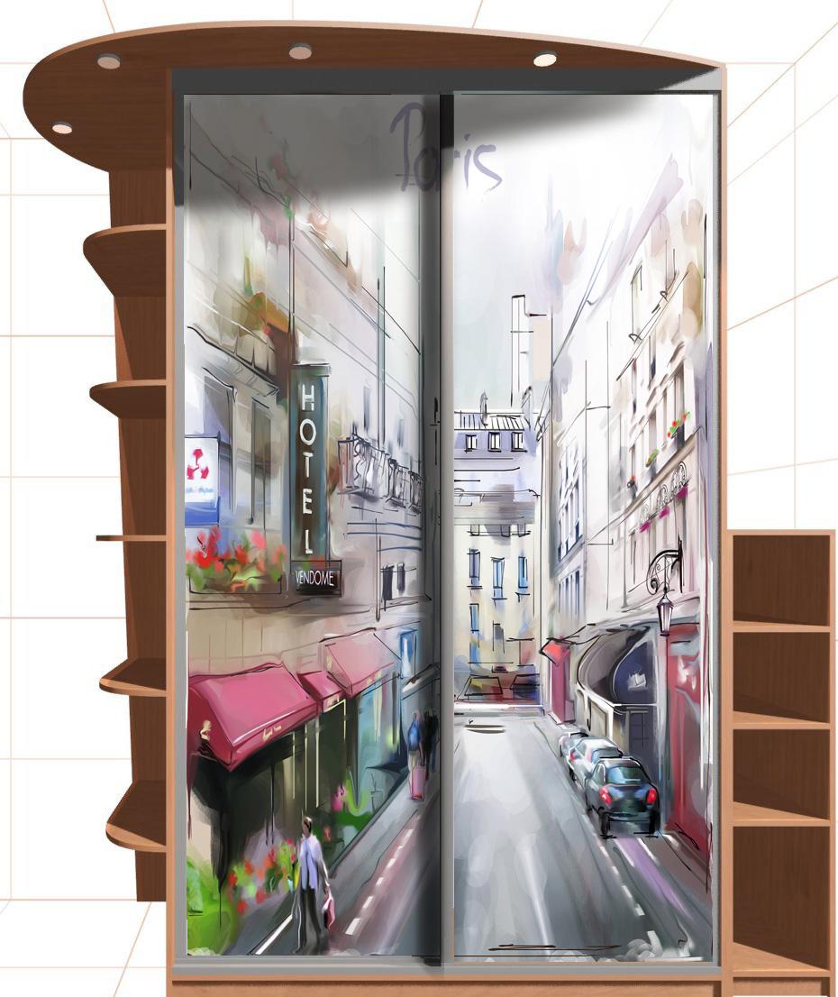Наклейка на шкаф - Париж