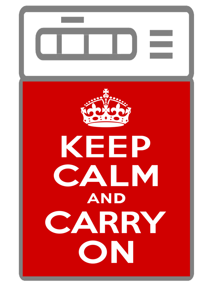 наклейка на посудомоечную машину - Keep calm