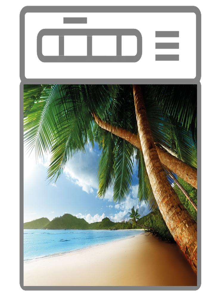 Наклейка на посудомоечную машину -Пляж 3