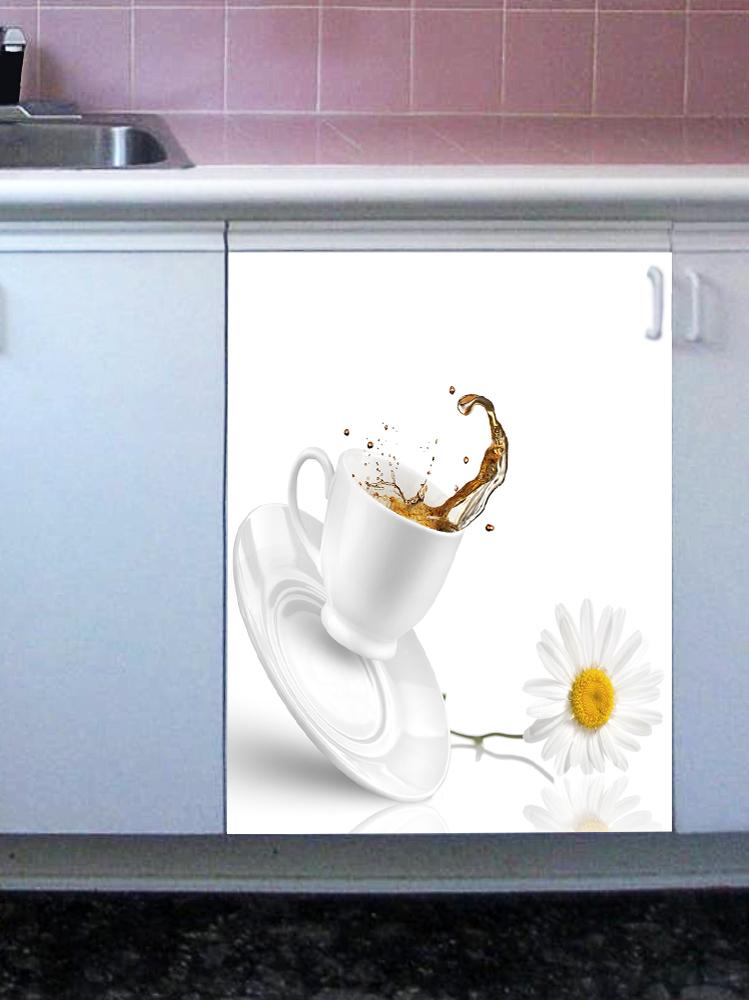 Наклейка на посудомоечную машину - Чай