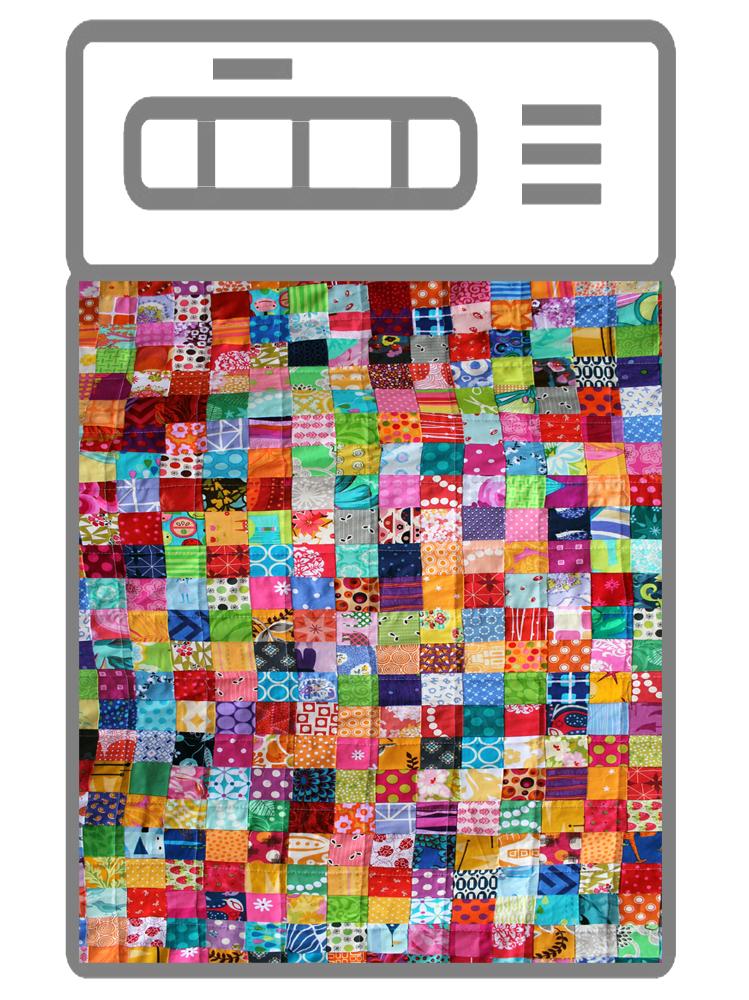 Наклейка на посудомоечную машину - Лоскутное одеяло