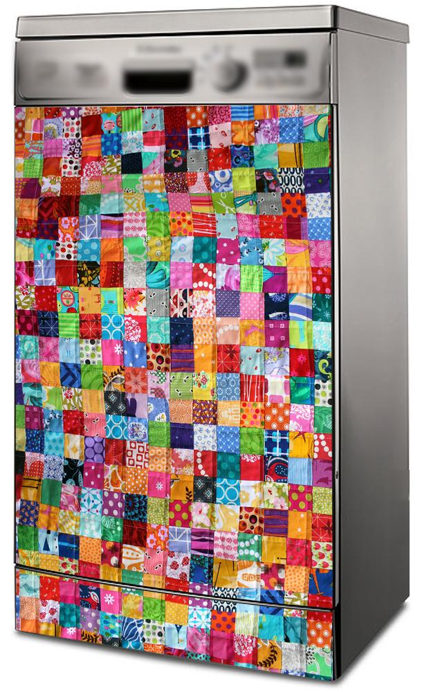 Наклейка на посудомоечную машину -Лоскутное одеяло