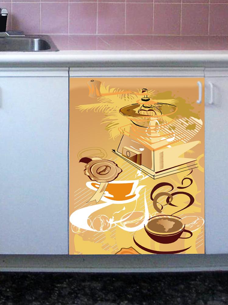 Наклейка на посудомоечную машину - Кофе 1. Арабика