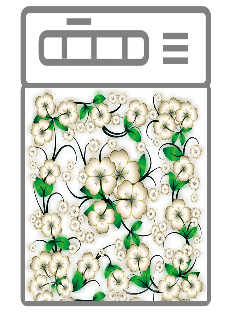Наклейка на посудомоечную машину -  Цветочки