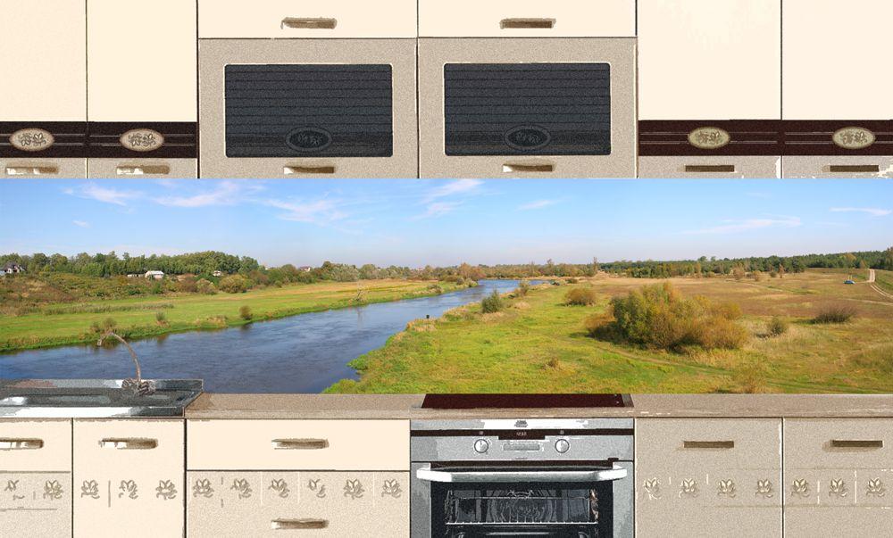 Виниловая наклейка на фартук кухни -Река
