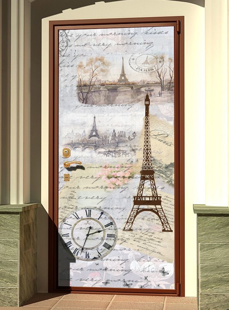 Виниловая наклейка на дверь - Старое письмо