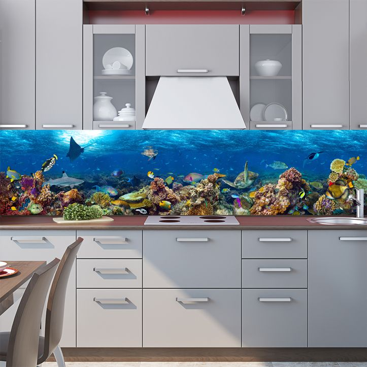Kitchen Backsplash - Lagoon 3