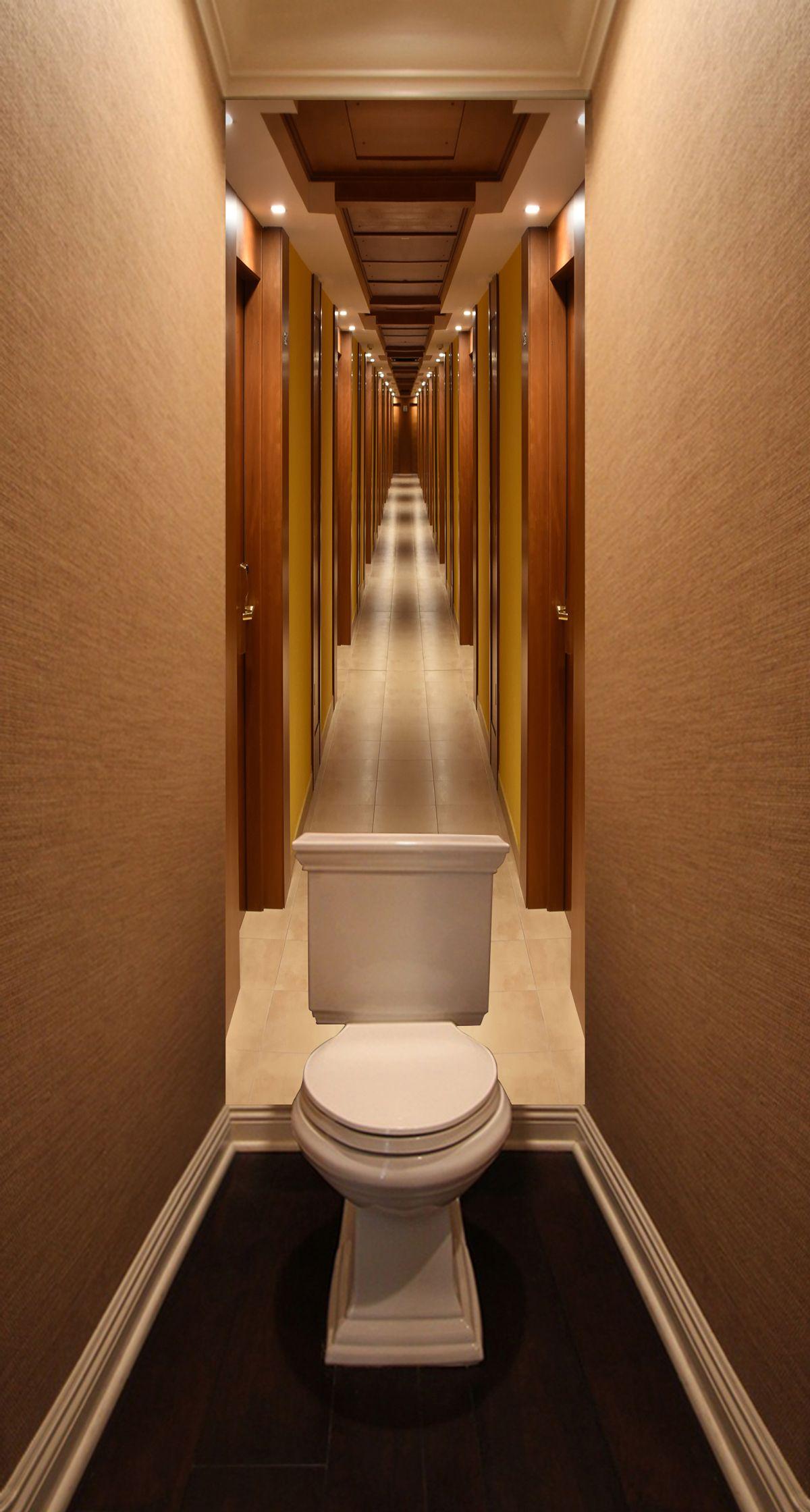 Фотообои в туалет - Лайнер купить в магазине Интерьерные наклейки