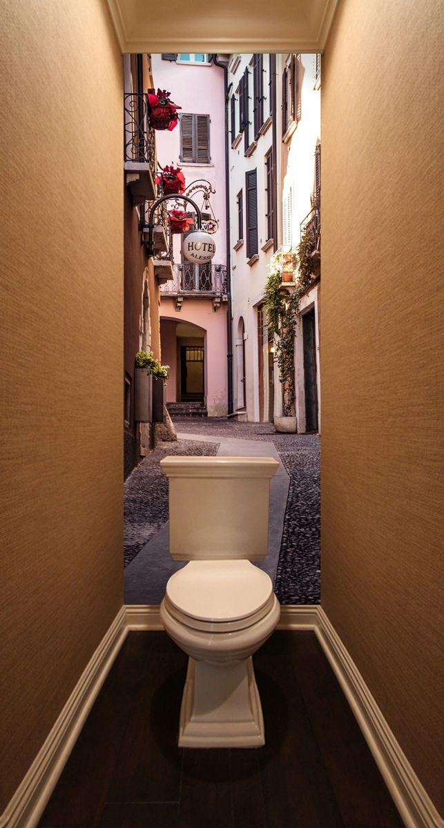 Фотообои в туалет - Тихая улица купить в магазине Интерьерные наклейки