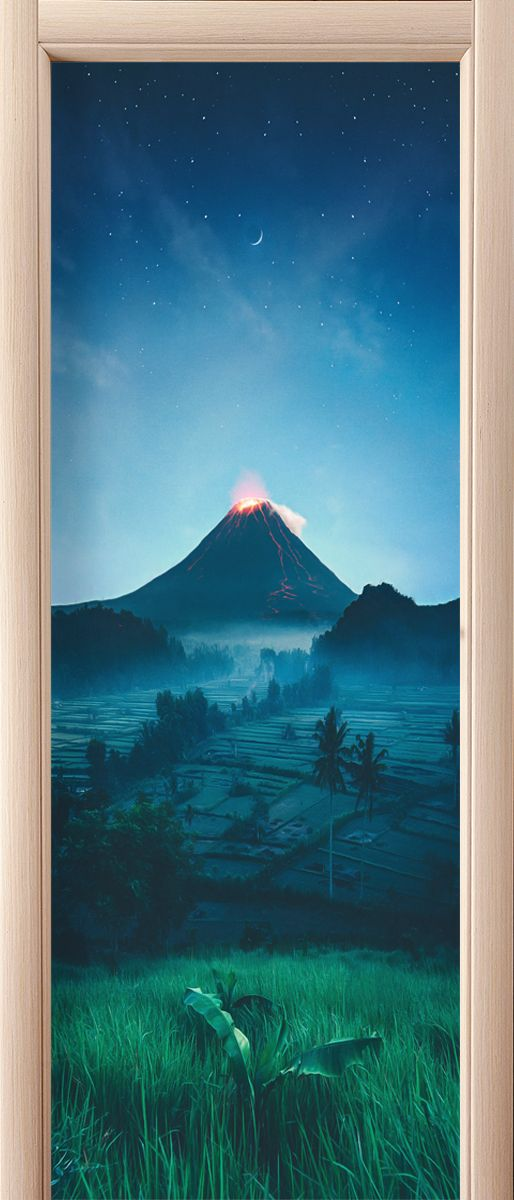 Door sticker - Foot of the volcano by X-Decor