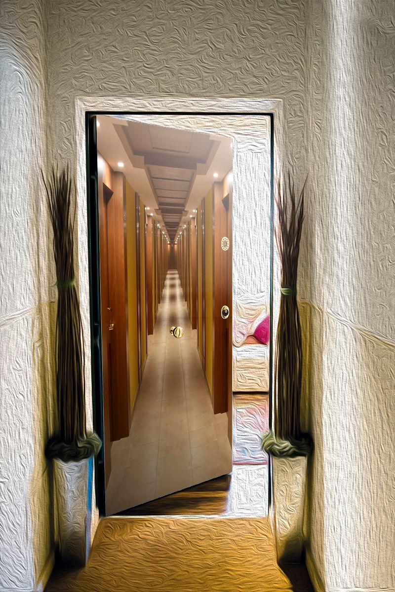 наклейка на дверь - Лайнер | магазин Интерьерные наклейки