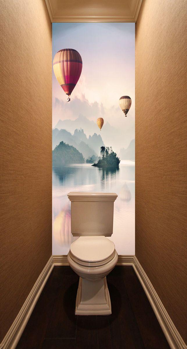 Фотообои в туалет - Воздухоплаватели магазин Интерьерные наклейки