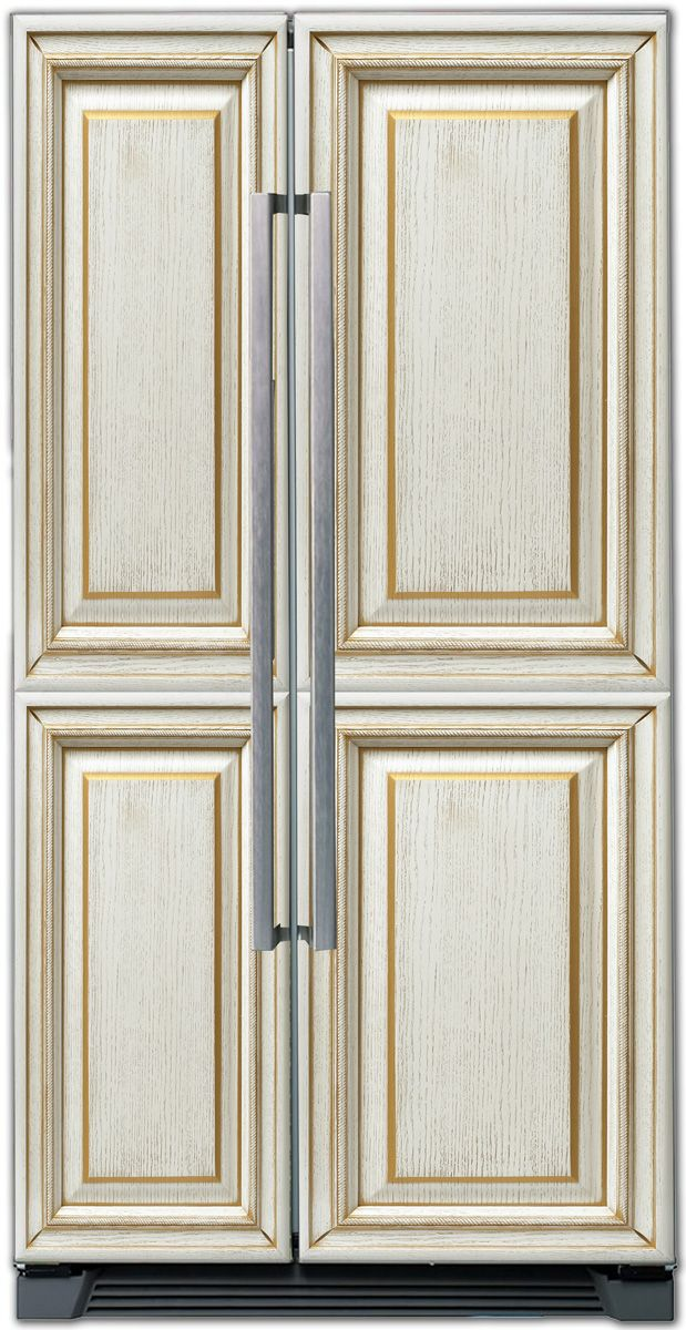Виниловая наклейка на холодильник -  Классика