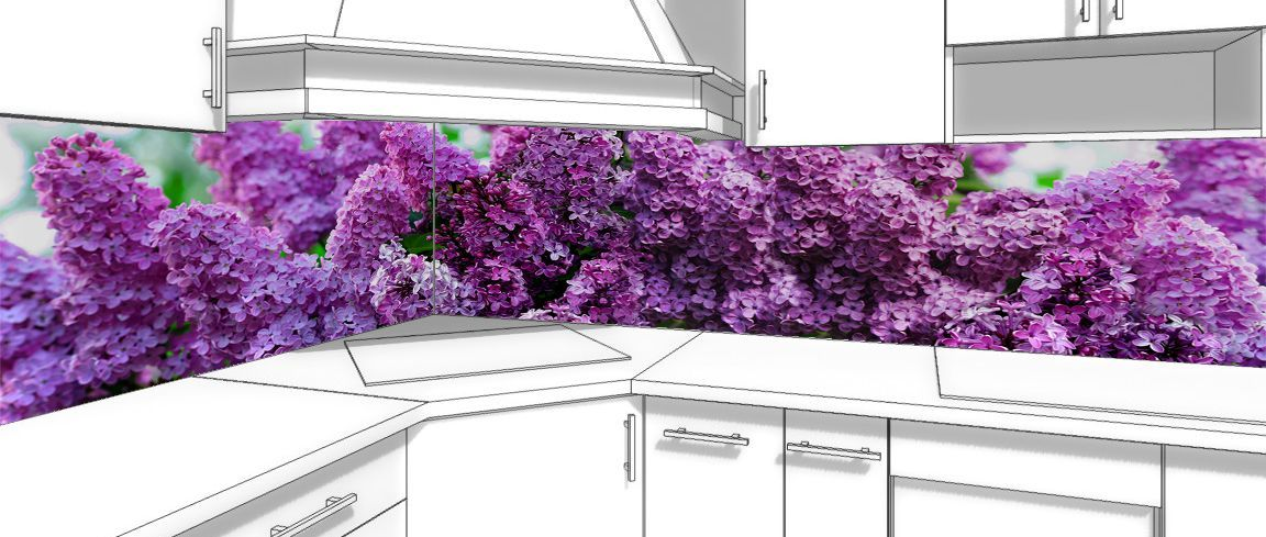 Kitchen Backsplash - Lilac