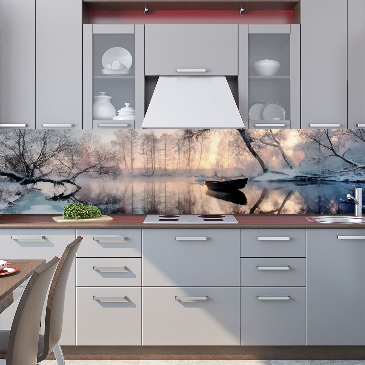 Kitchen Backsplash - Lake