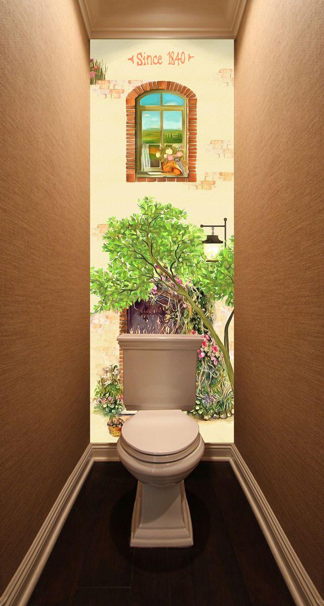 Фотообои в туалет - 1840 магазин Интерьерные наклейки