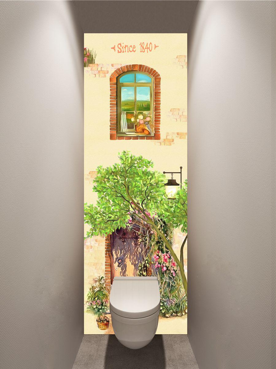 Фотообои в туалет -1840 магазин Интерьерные наклейки