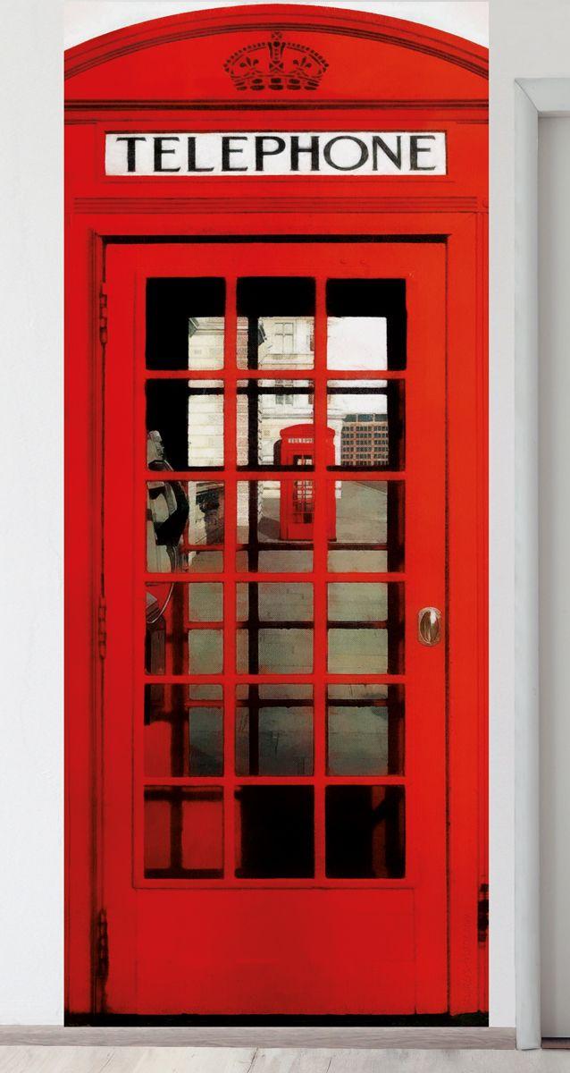 Панно на стену - Телефонная будка магазин Интерьерные наклейки