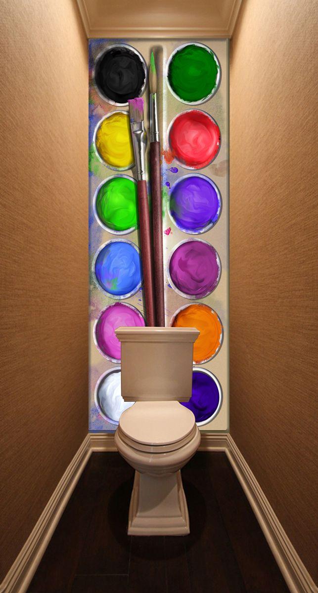 Фотообои в туалет - Акварель магазин Интерьерные наклейки